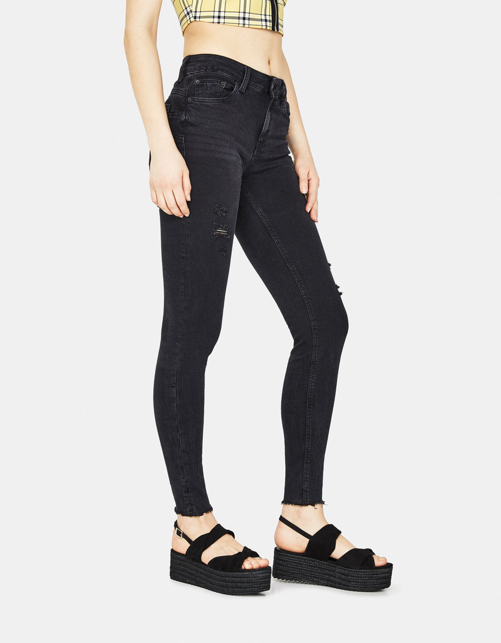 Jeans Push Up Fit Low Rise elásticos
