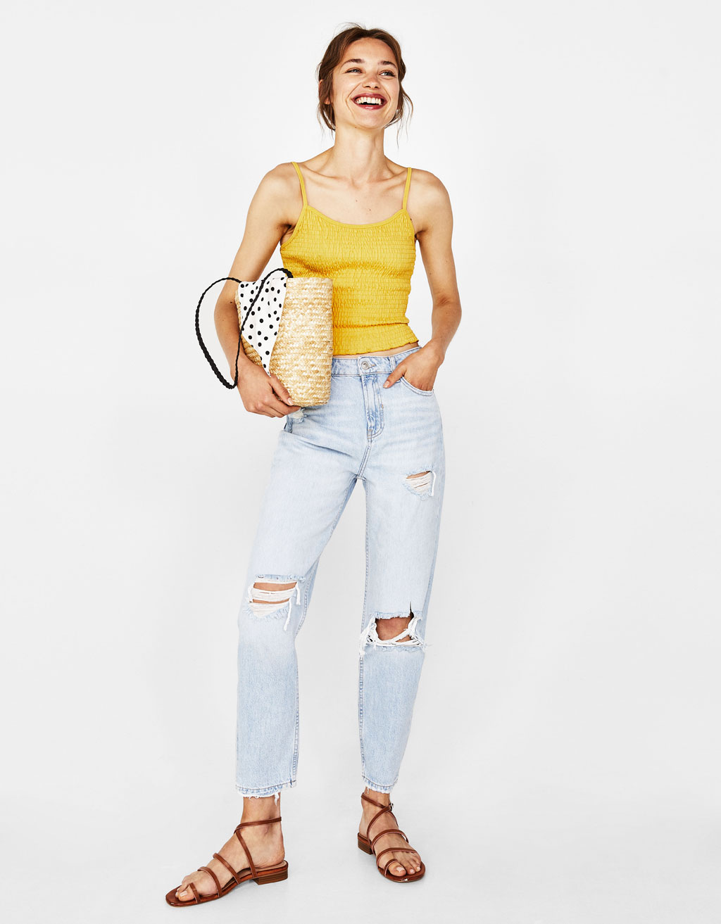 Mom-Fit-Jeans mit Rissen