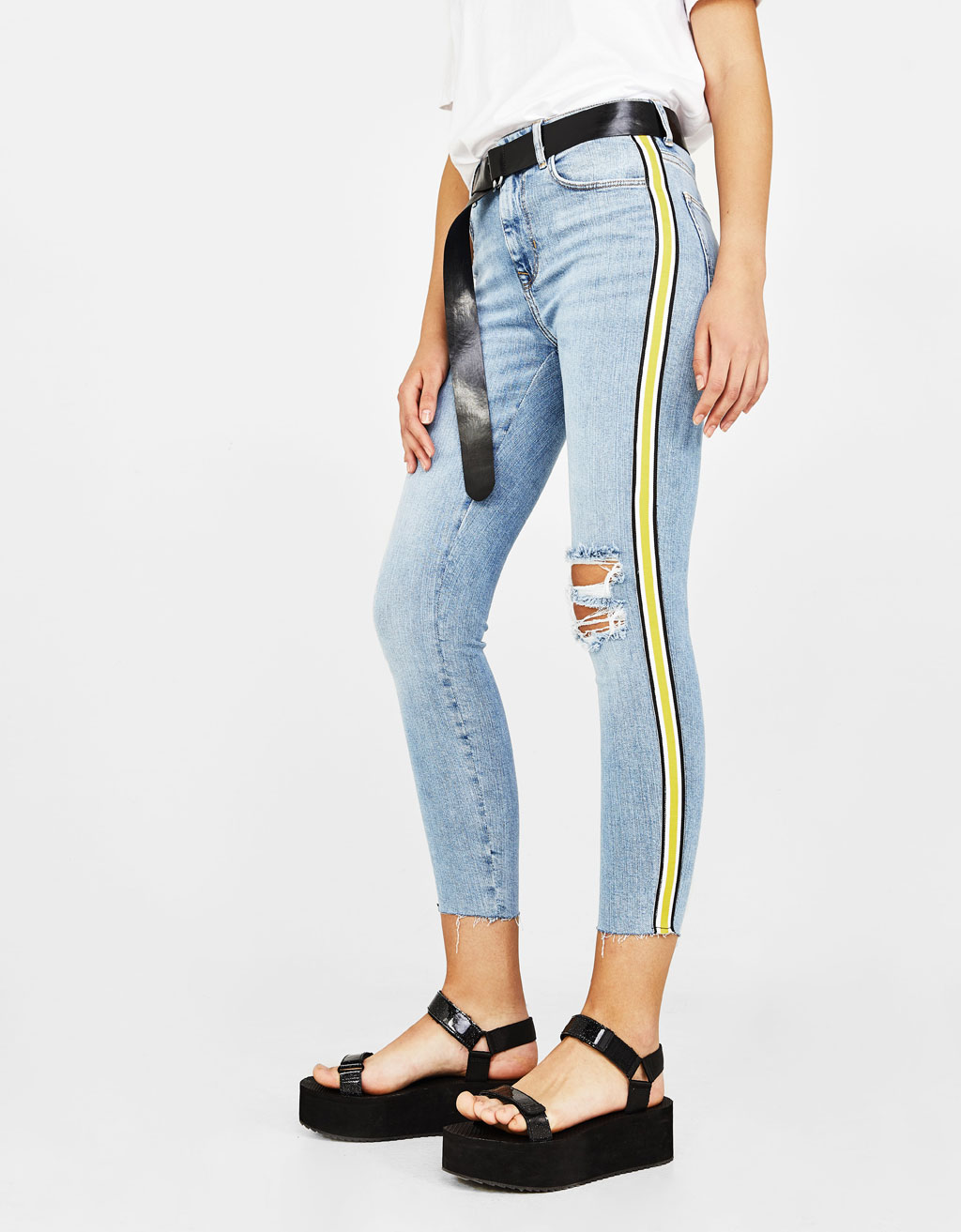Jeans Skinny Fit con banda lateral