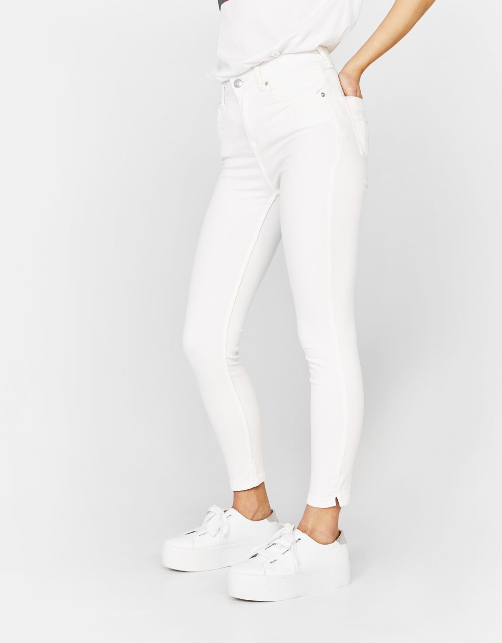 Super Skinny Medium Waist Trousers