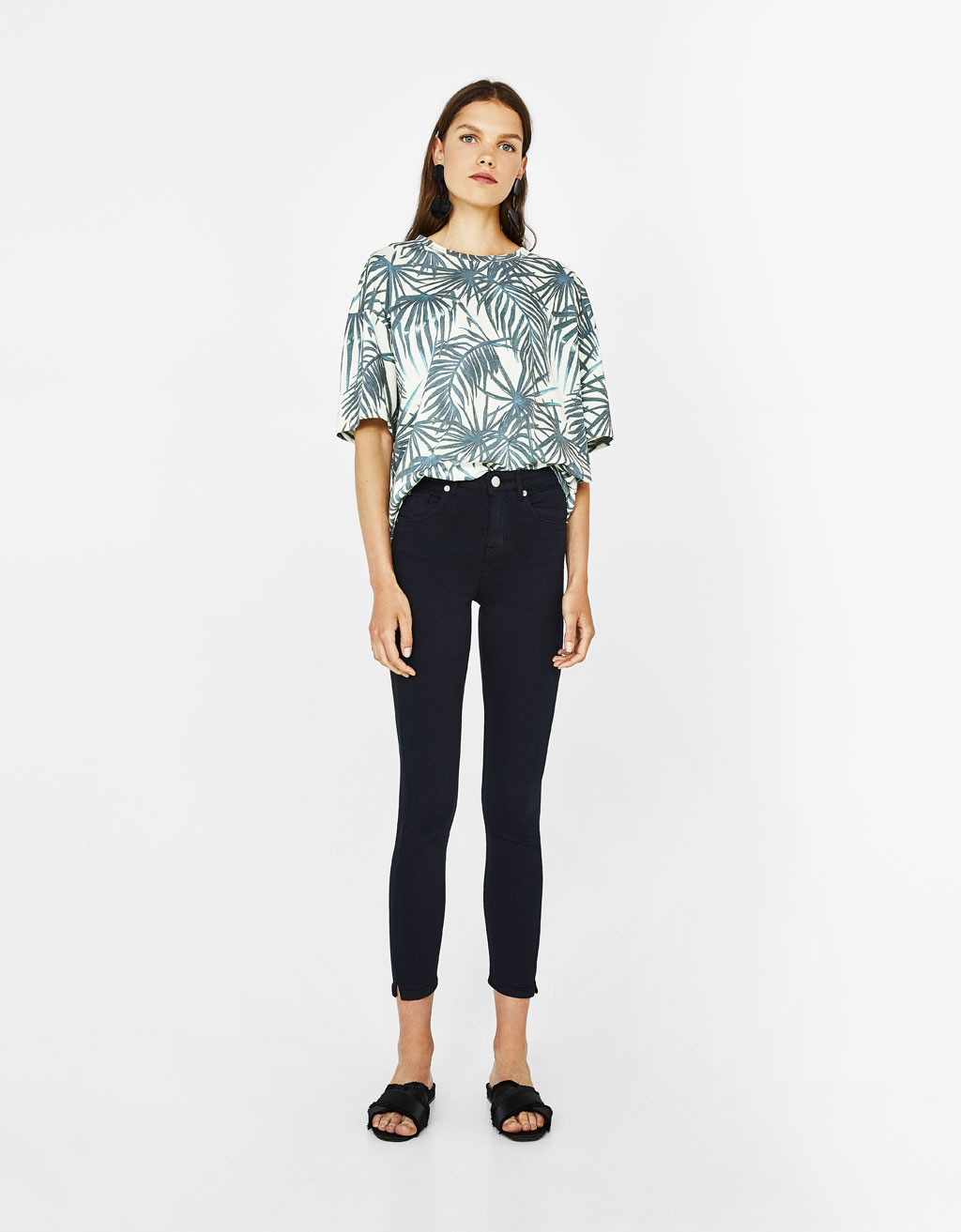 Super skinny mid-rise pants