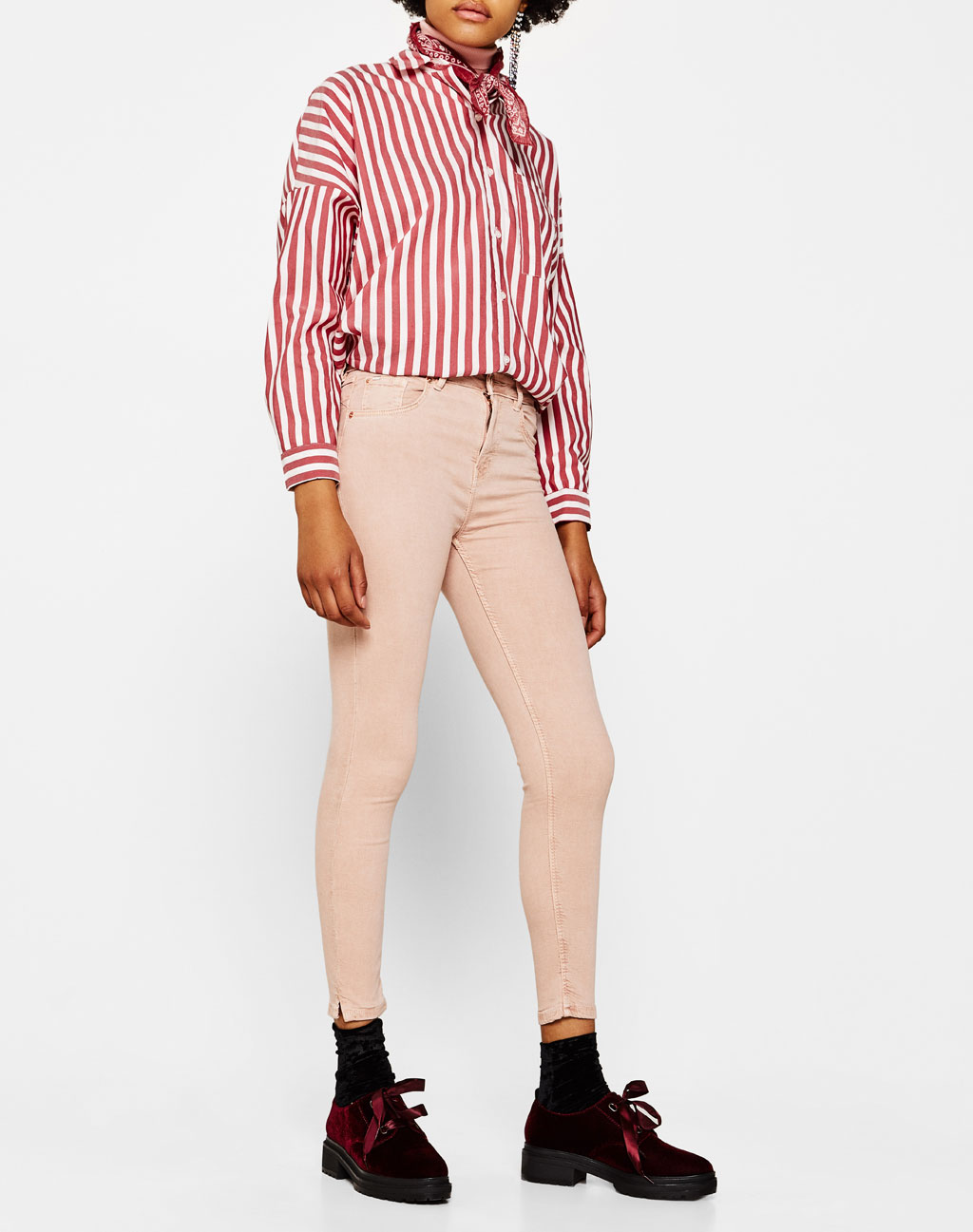 Super skinny mid-rise trousers