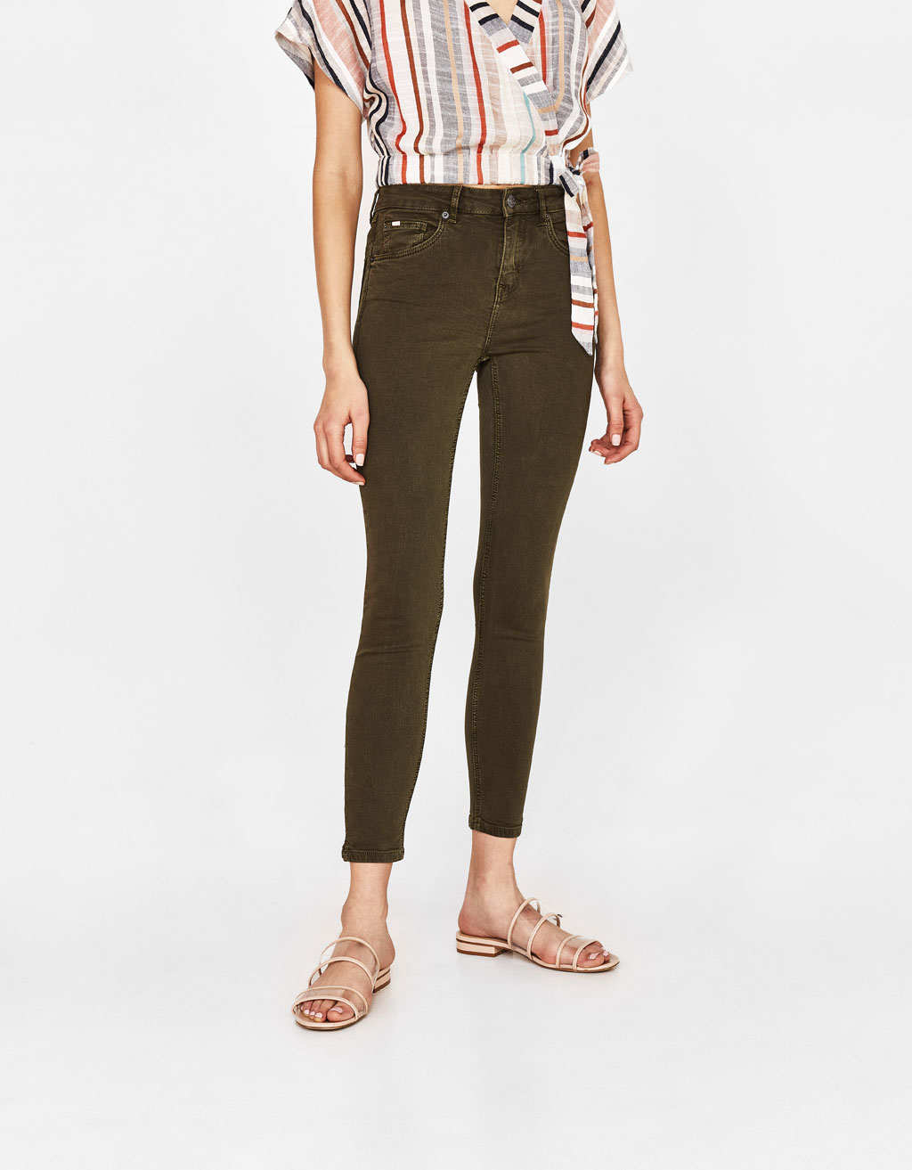 Super Skinny Medium Waist Pants