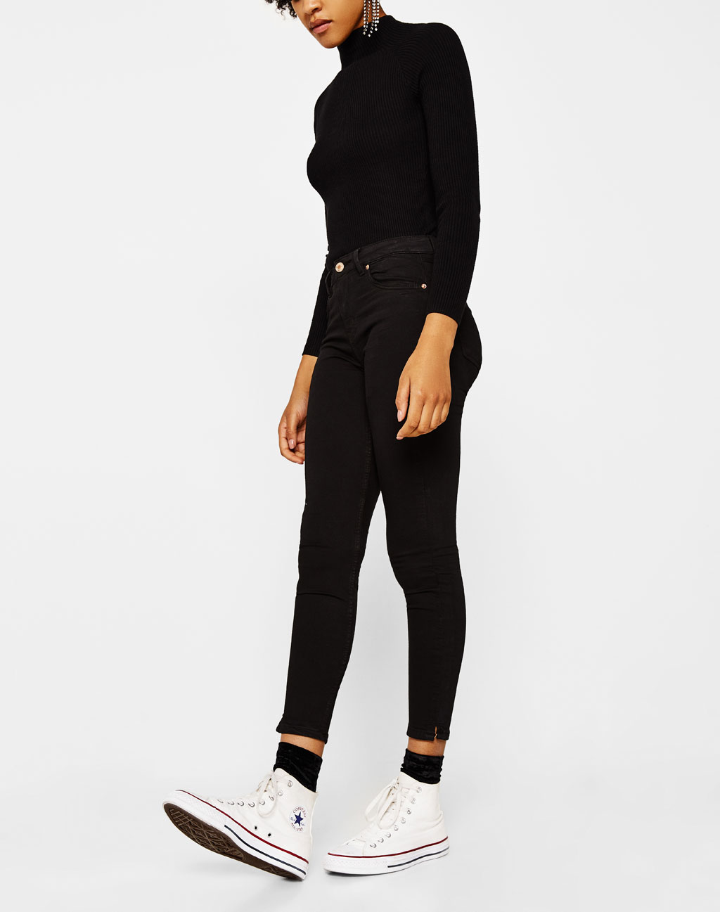 Pantalon super skinny taille normale