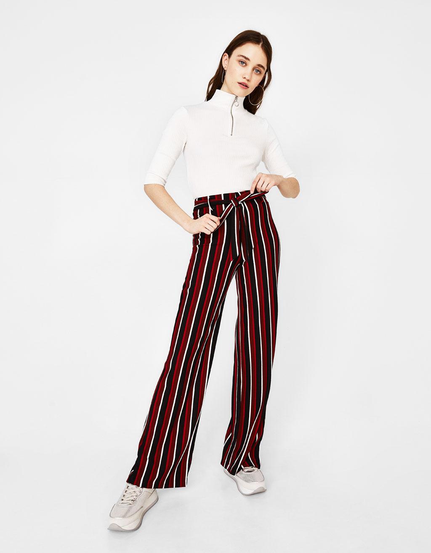 Pantalon ample à rayures