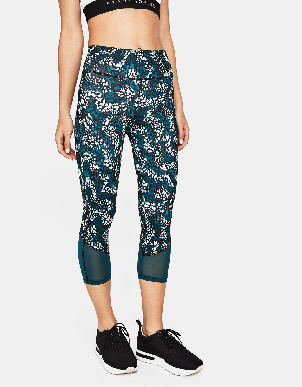 Printed sports leggings