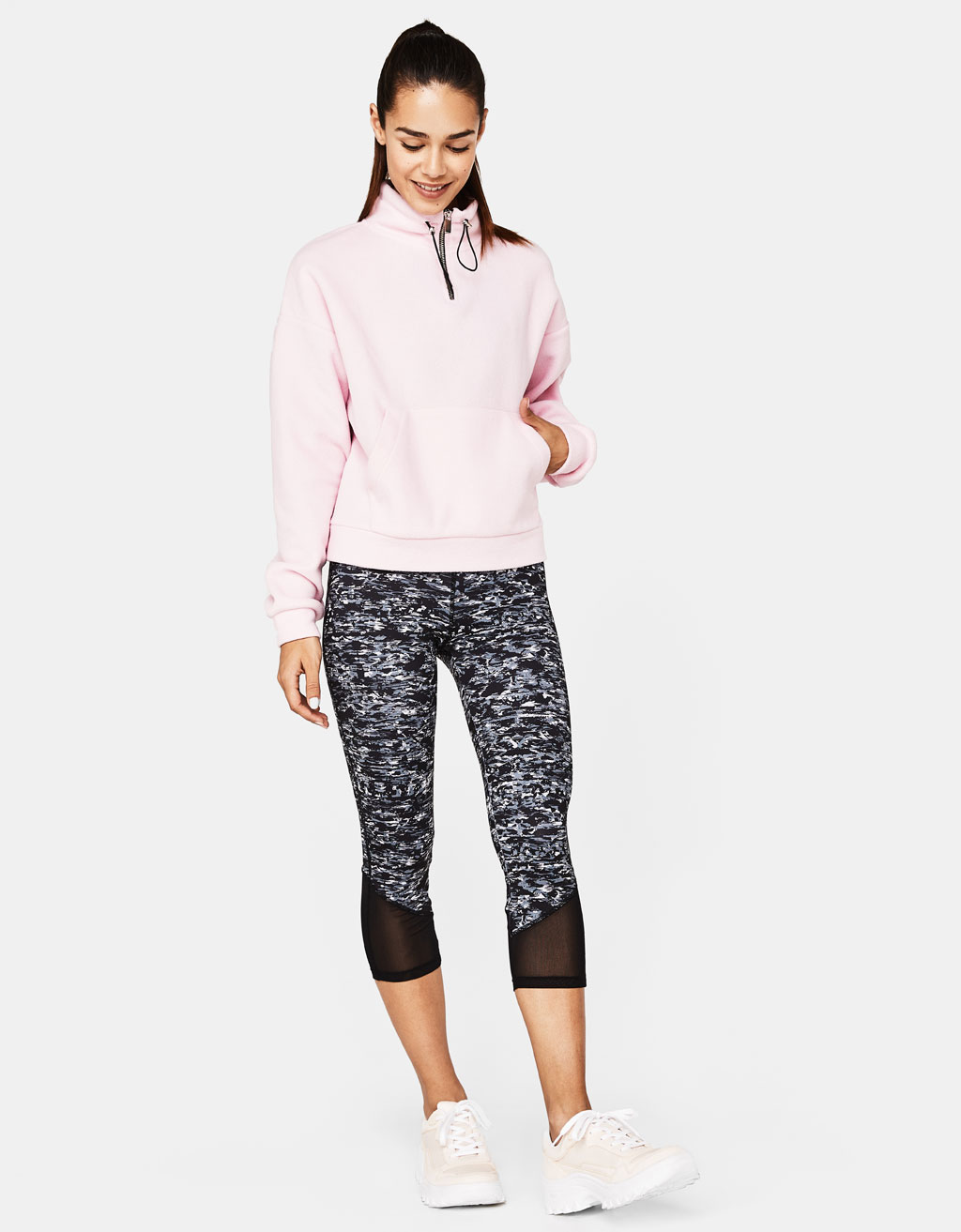 Sporty legging met print