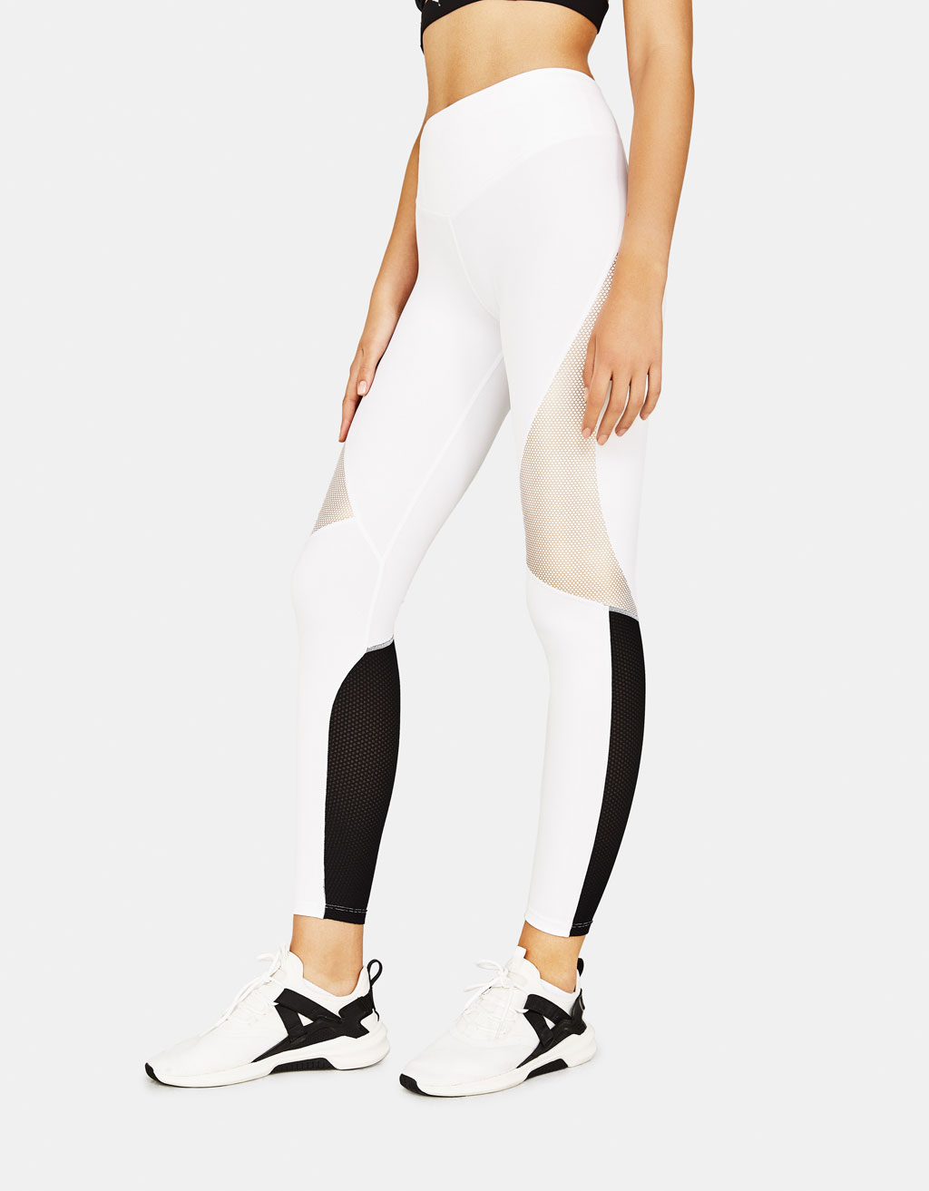 Kontrasterande sportleggings