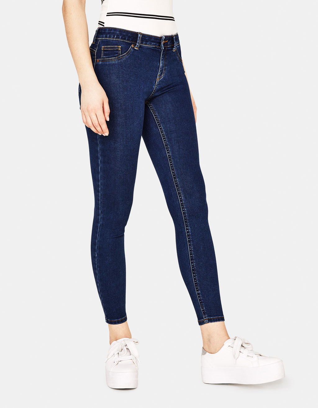 Jeans Push Up Fit Low Rise elastici