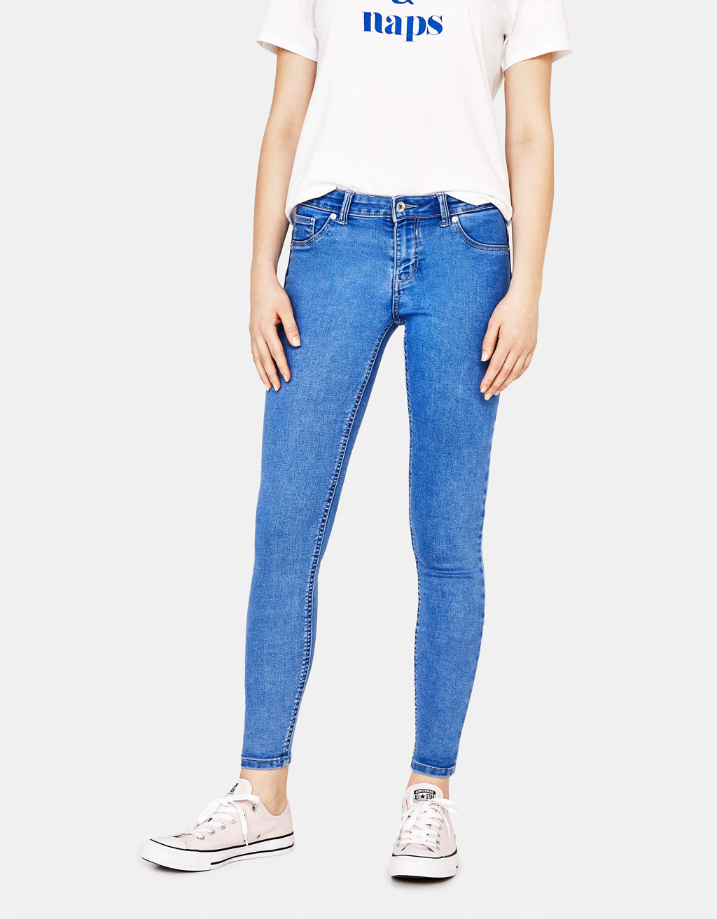 Push-up jeans met elastiek