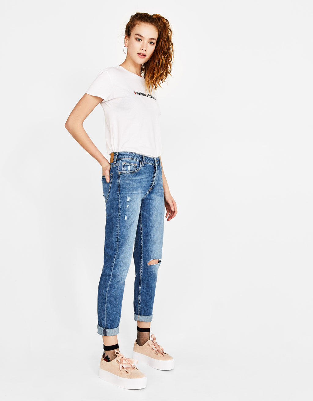 Ecologically grown cotton Boyfriend Fit Jeans