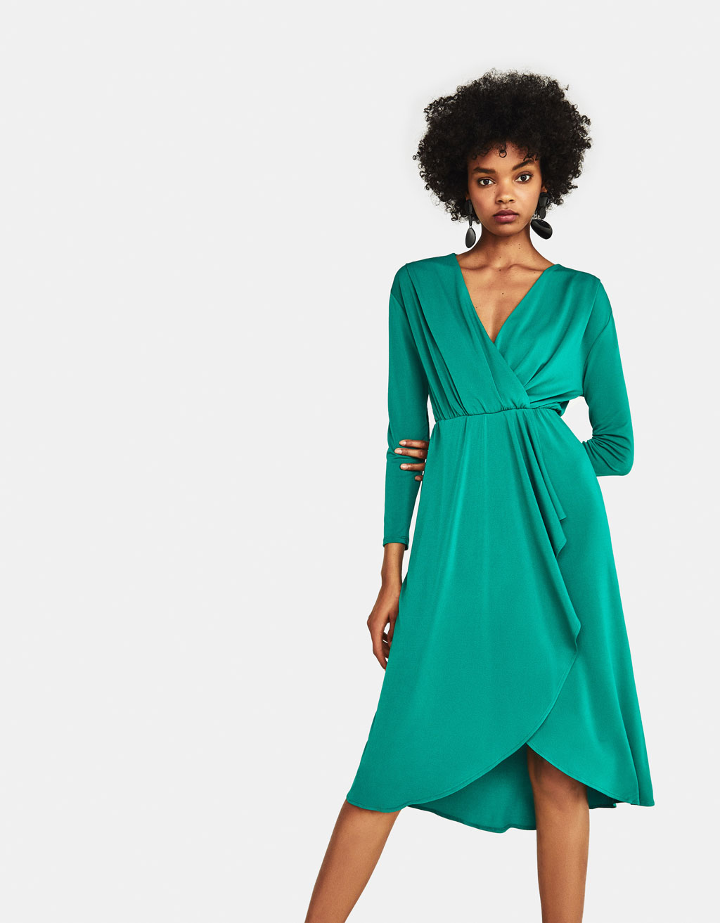 Asymmetric midi dress