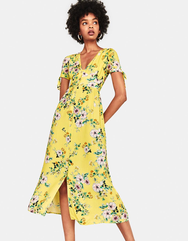 Pikk lilleline kleit