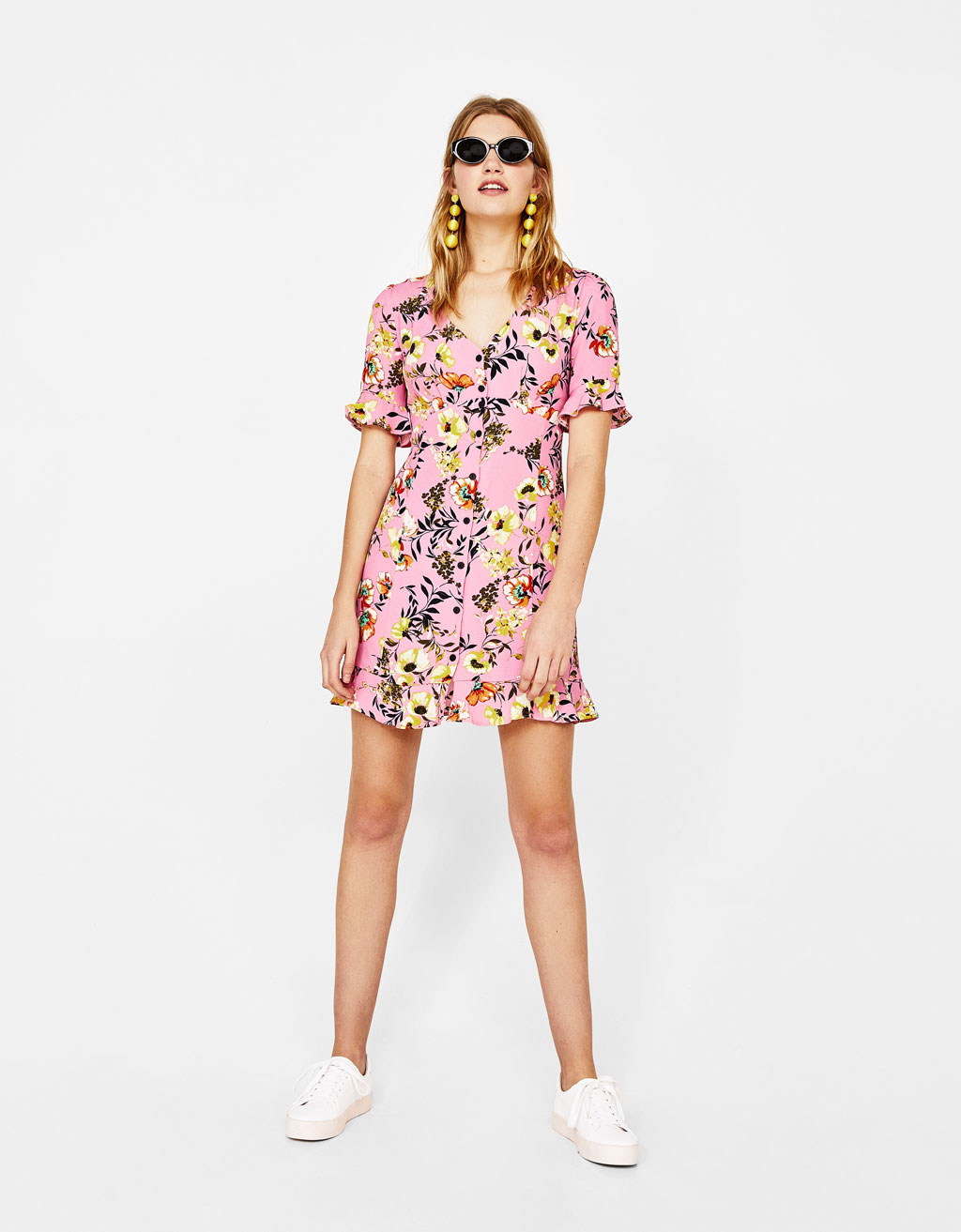 Shirtdress met V-hals