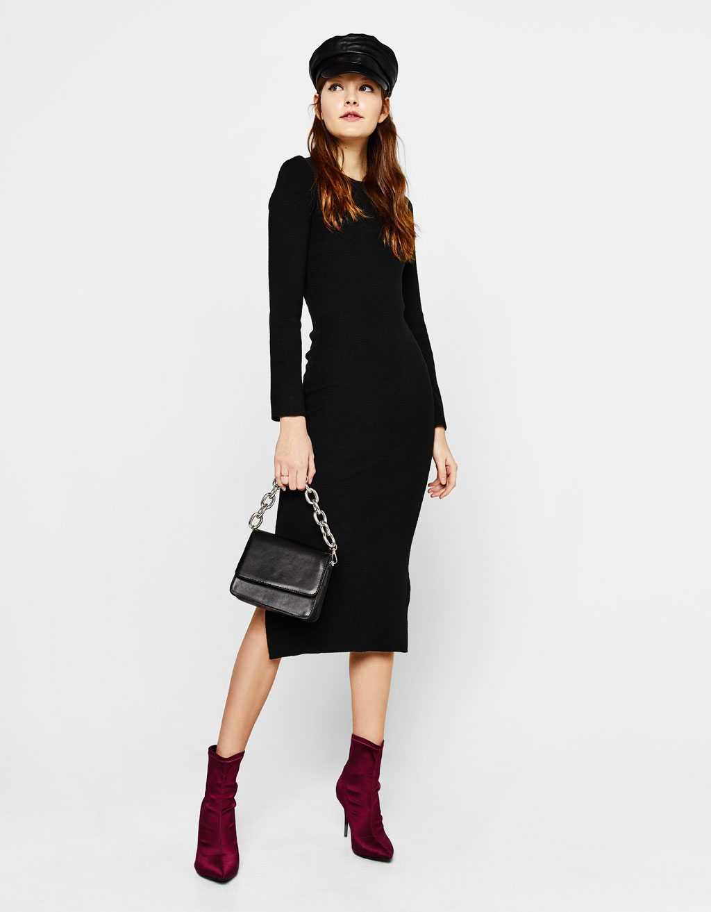 Fitted midi dress