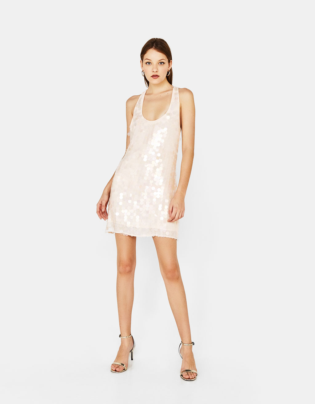 Short sequin dress - Dresses - Bershka United Kingdom