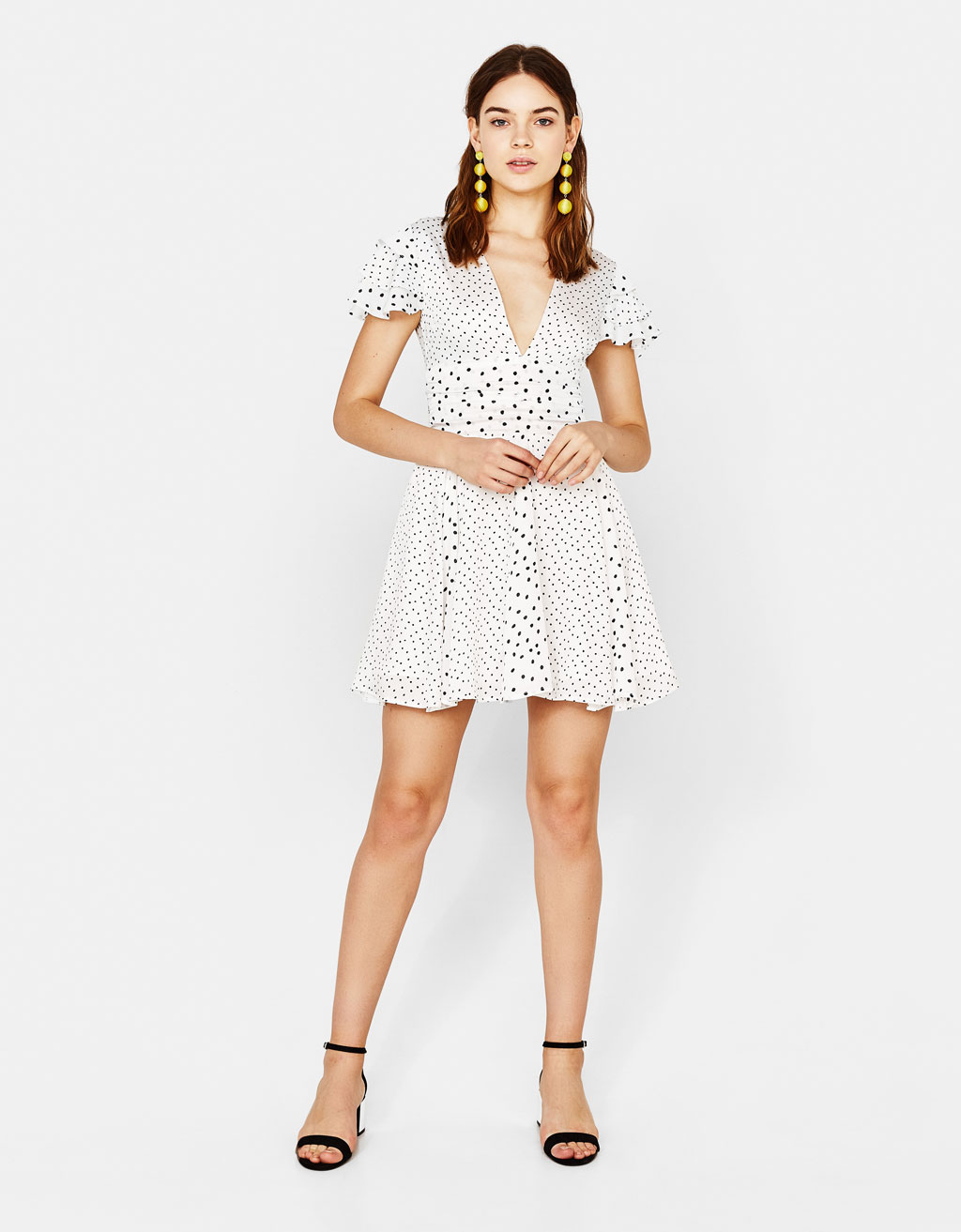 Short polka dot dress