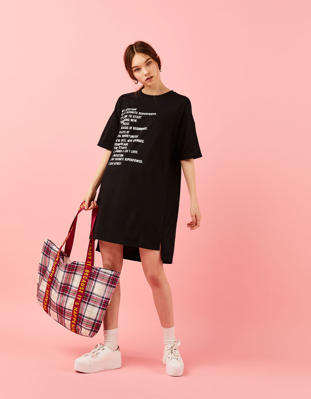 티셔츠 타입 원피스