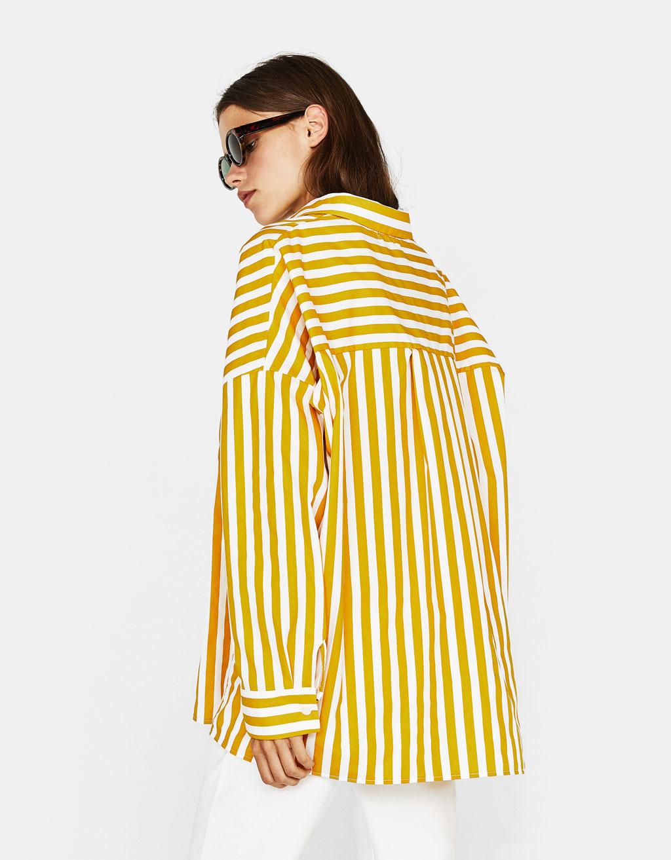 Oversized poplin shirt