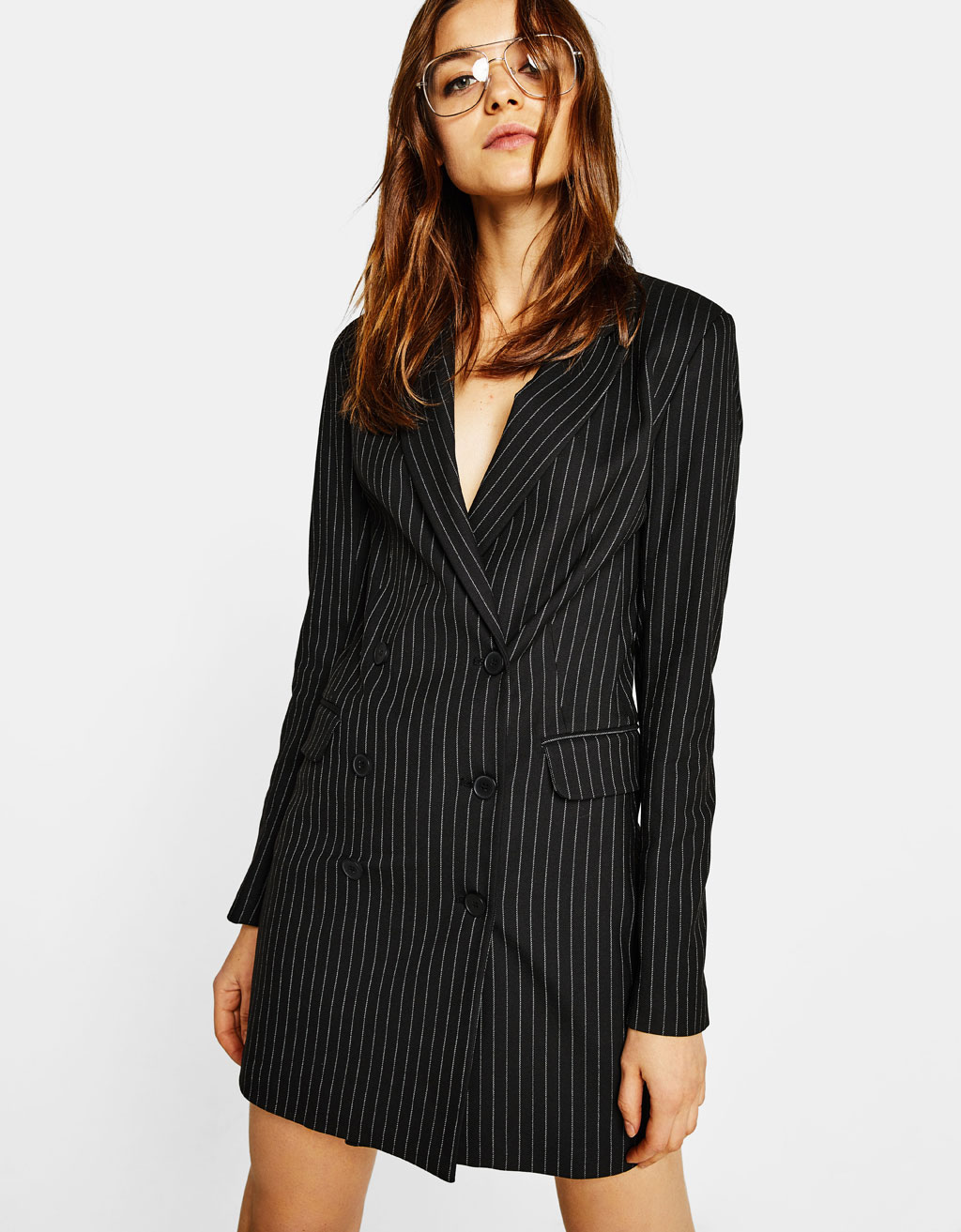 Double-breasted blazer type jurk
