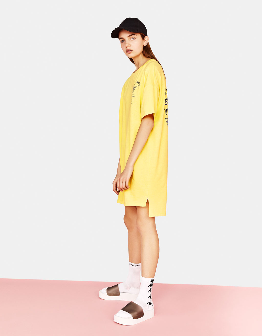 T-shirt dress with slogan