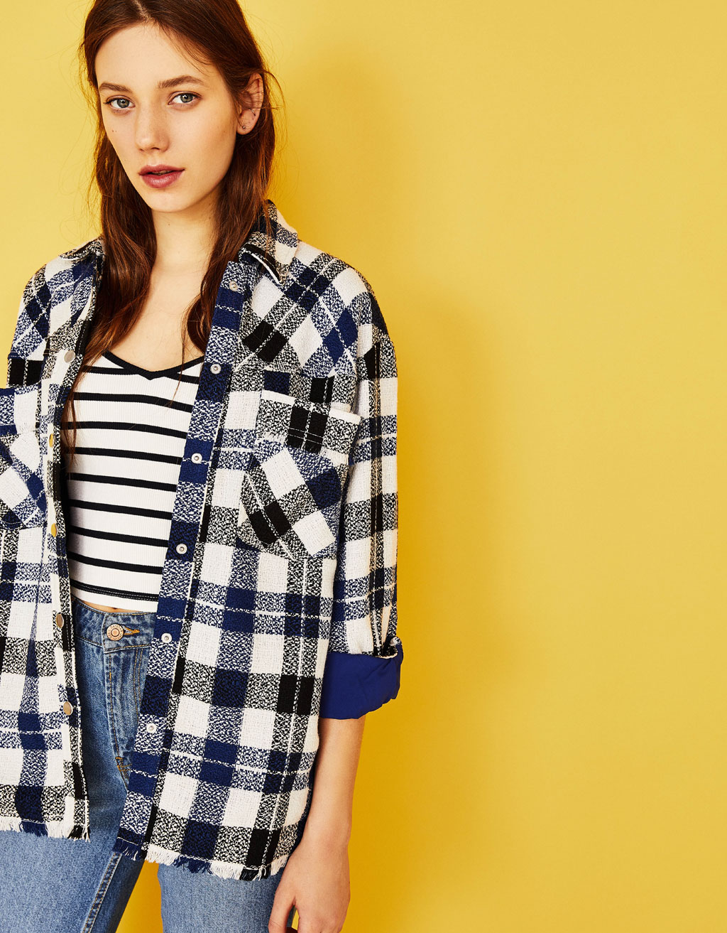Plaid overshirt