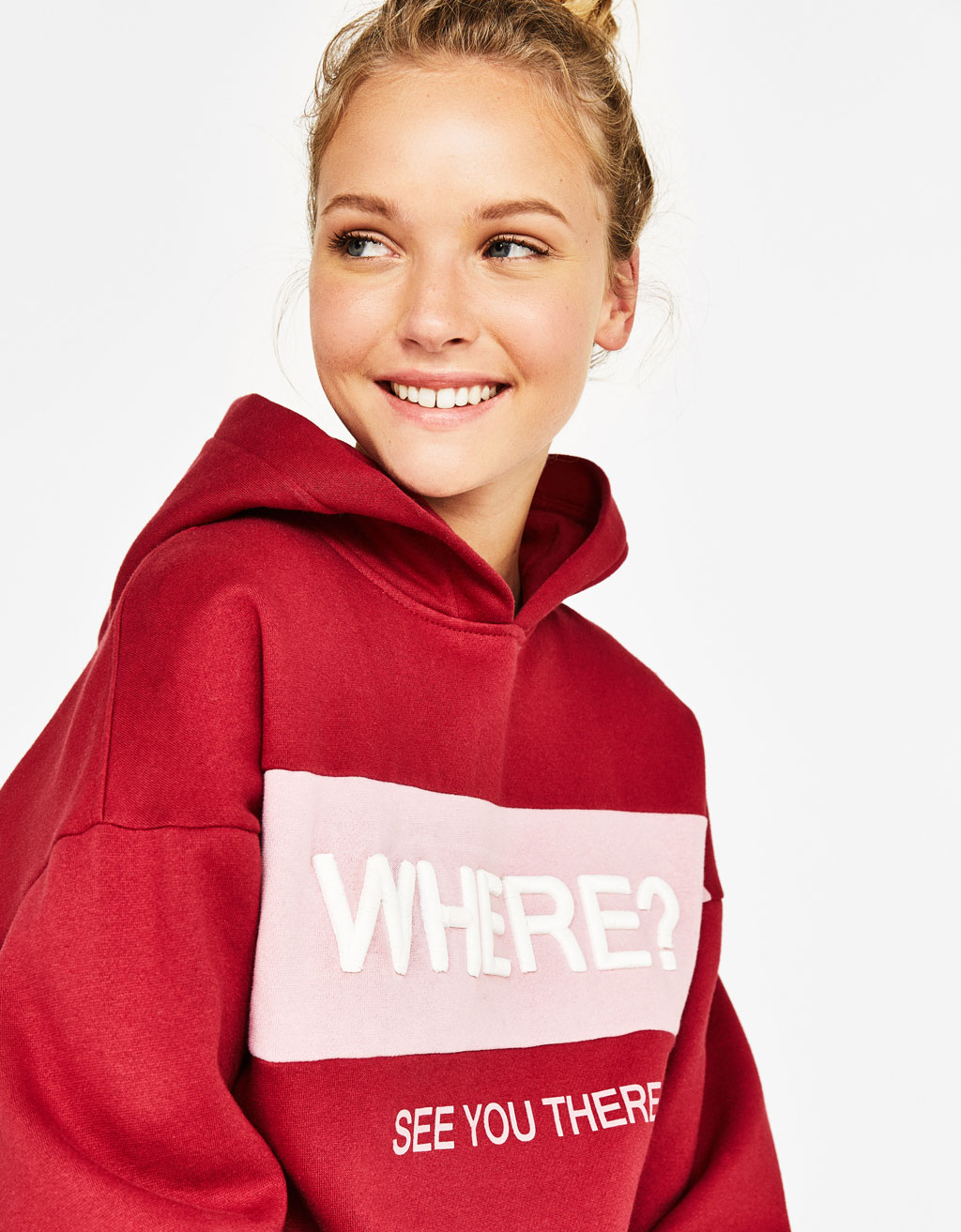 Sweatshirt with contrasting slogan