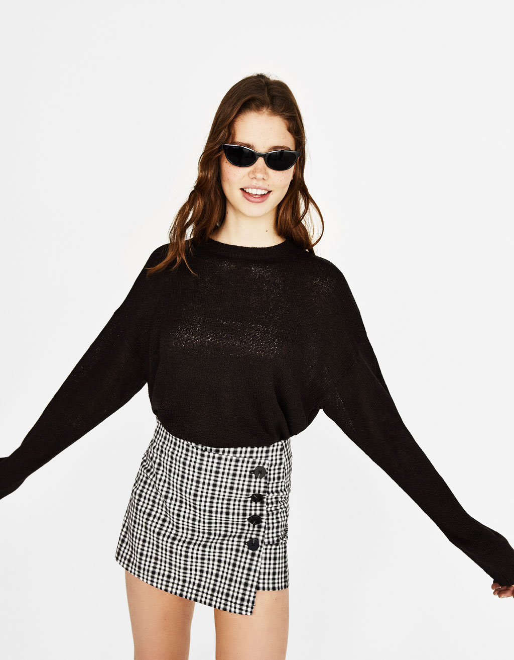 Loose-fitting crewneck sweater