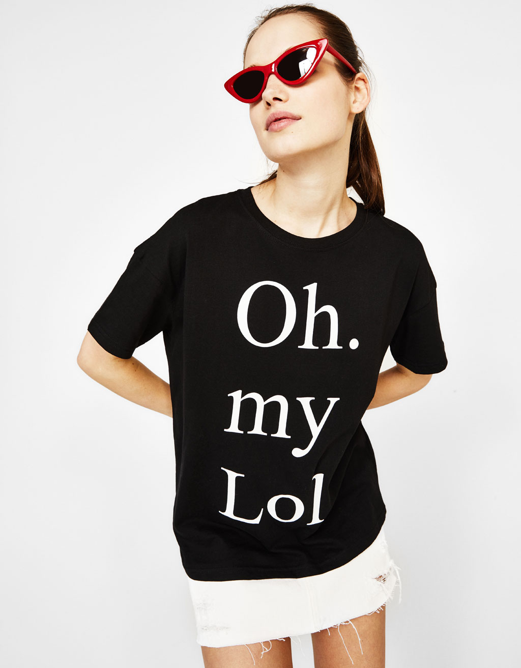 Organic cotton T-shirt with text