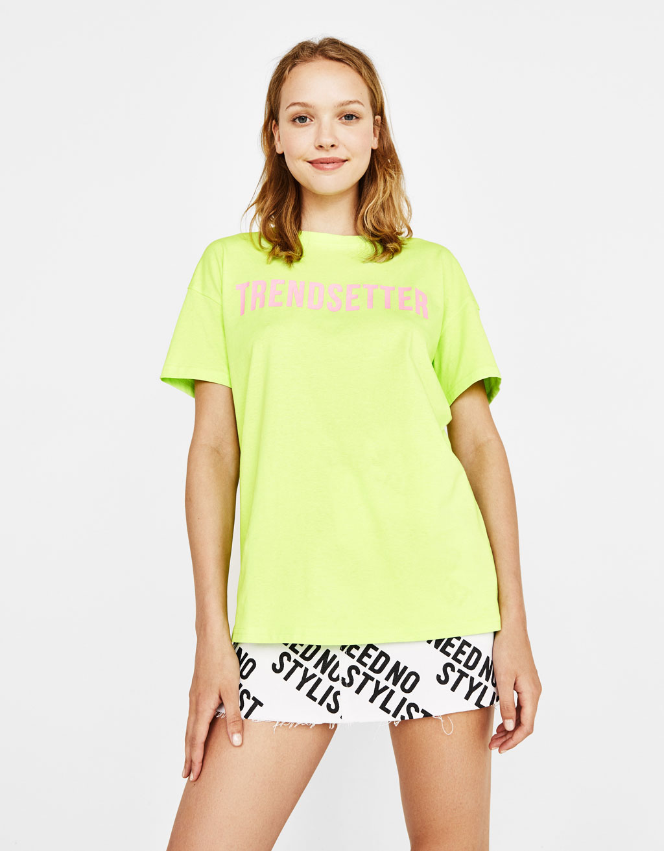 Organiskās kokvilnas t-krekls ar apdruku