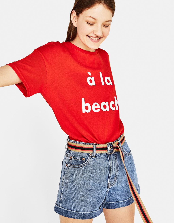Camiseta con algodón orgánico estampada