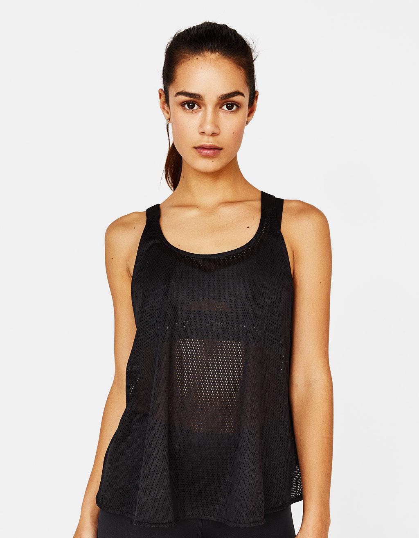 Sporty mesh T-shirt