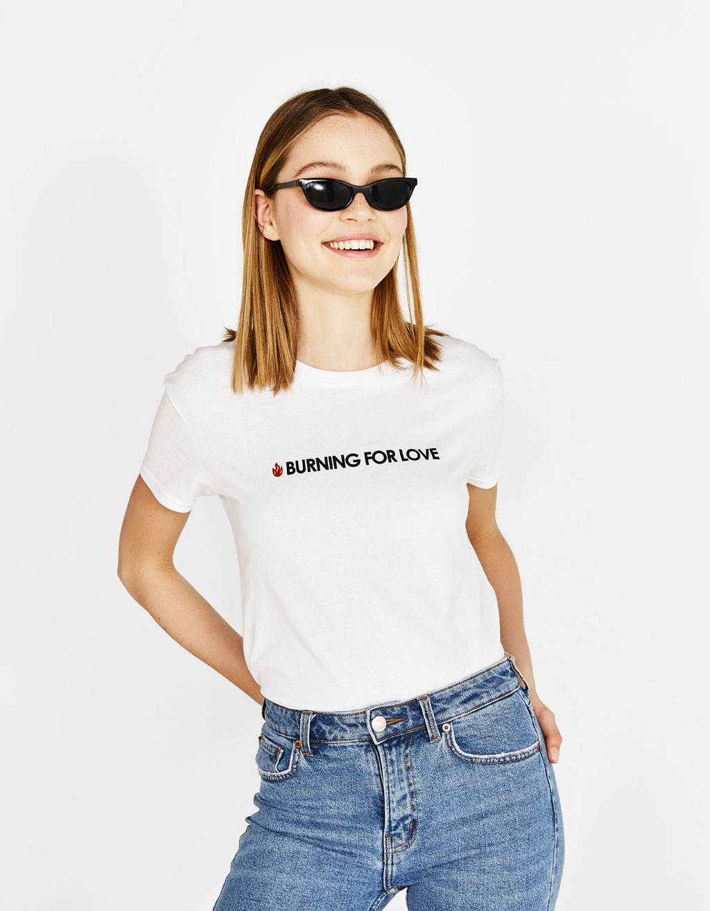 Ecologically grown cotton T-shirt with slogan