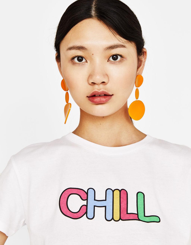 T-shirt imprimé avec coton organique