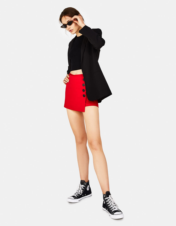Falda pantalón con botones