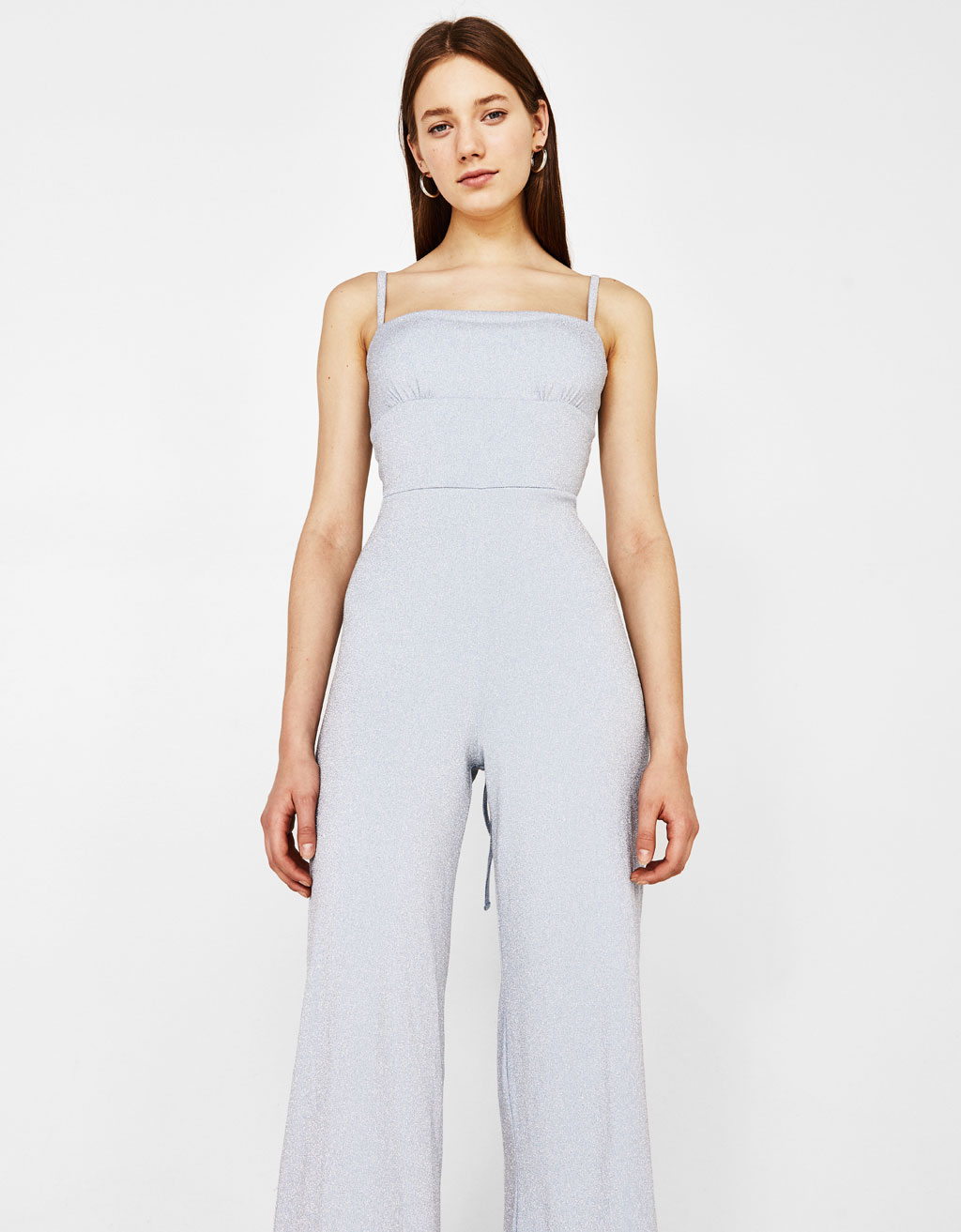 Culotte jumpsuit in shimmer thread
