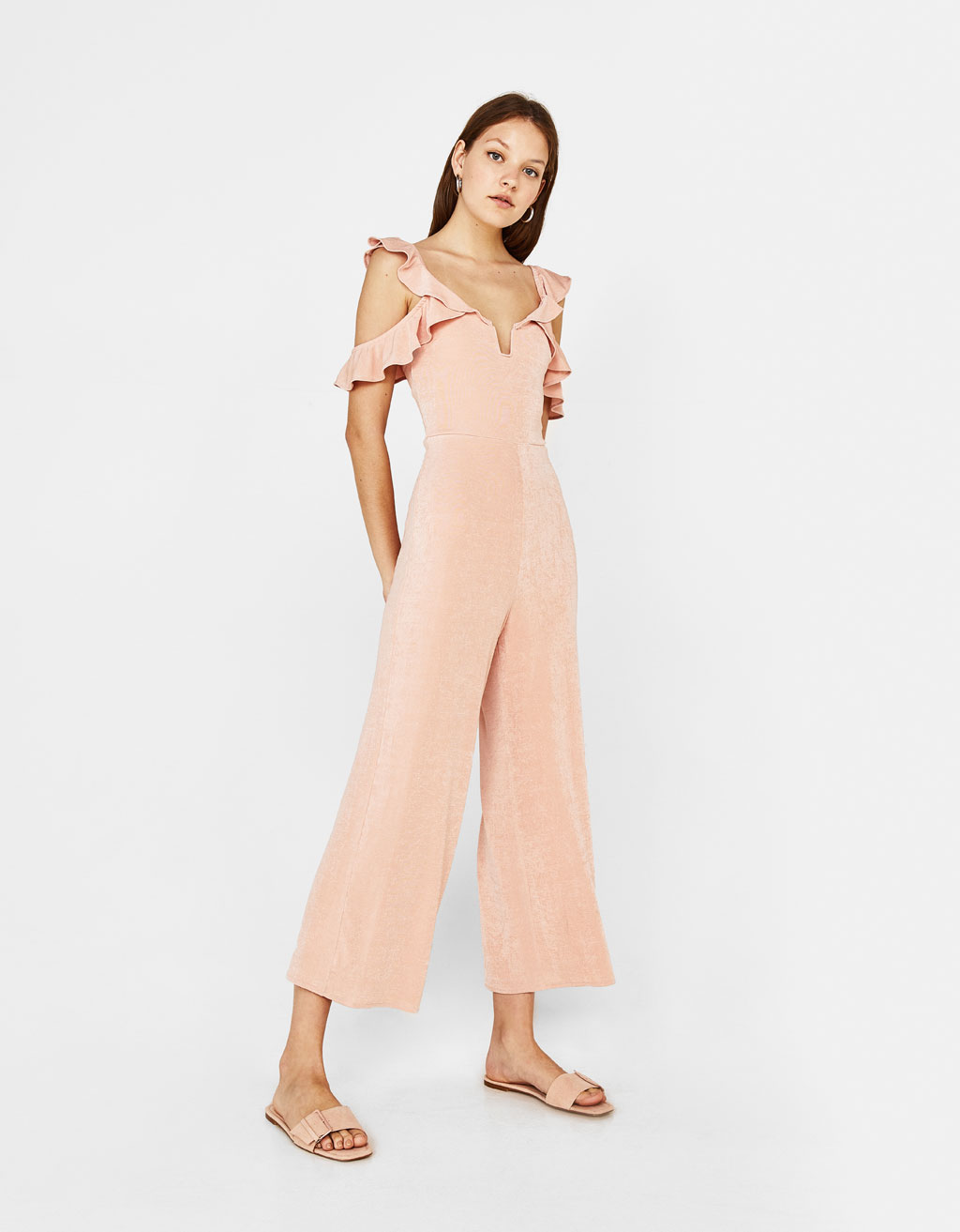 Culotte jumpsuit with ruffles