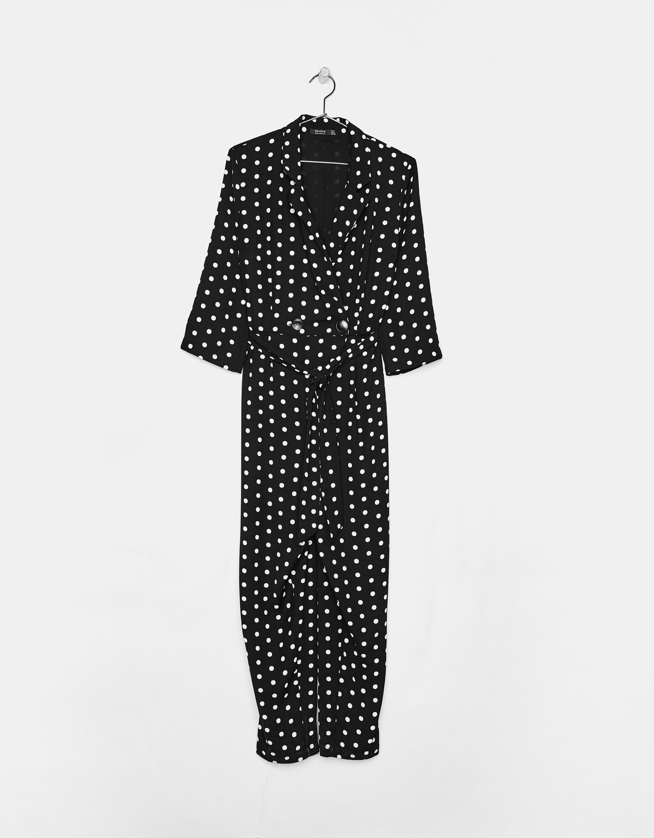 1eb058df86cb Long polka dot jumpsuit - Dresses - Bershka Estonia