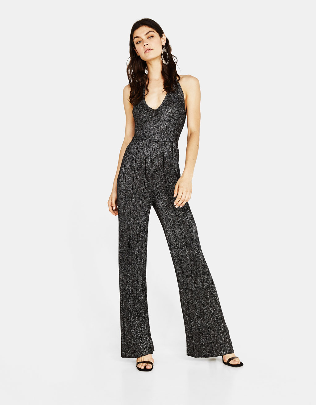 Jumpsuit met metallic garen