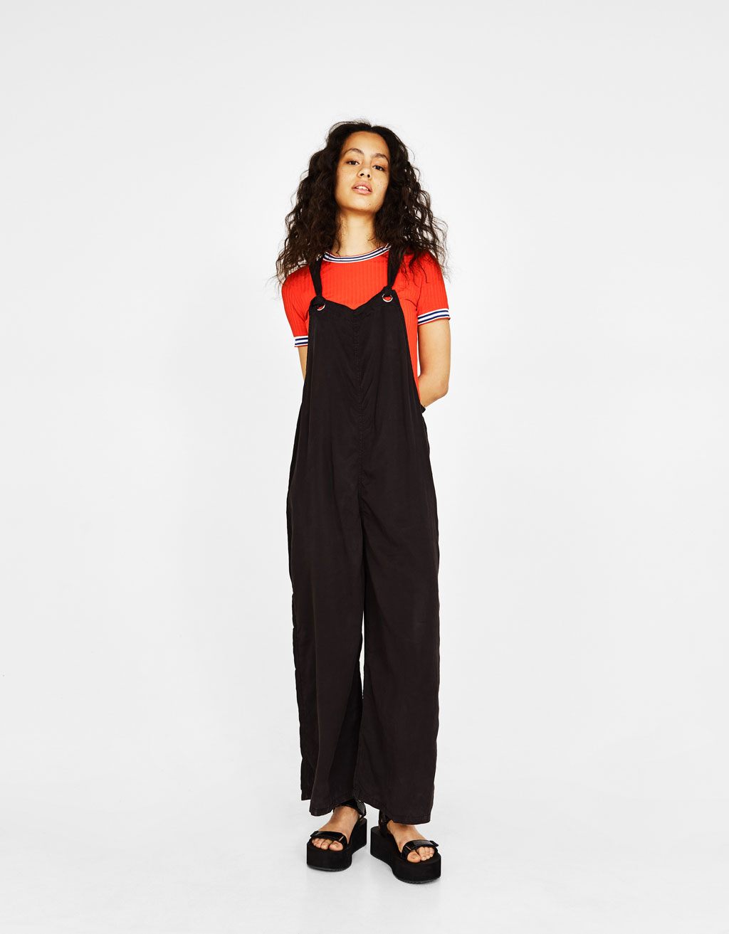 Long dungarees with straps