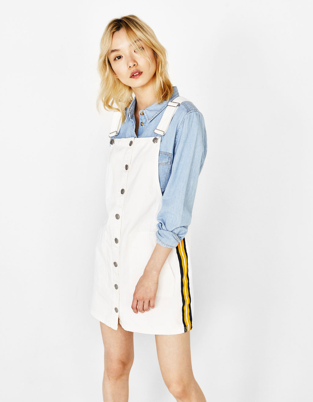 Short pinafore dress