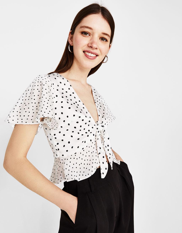 Puantiye bluz