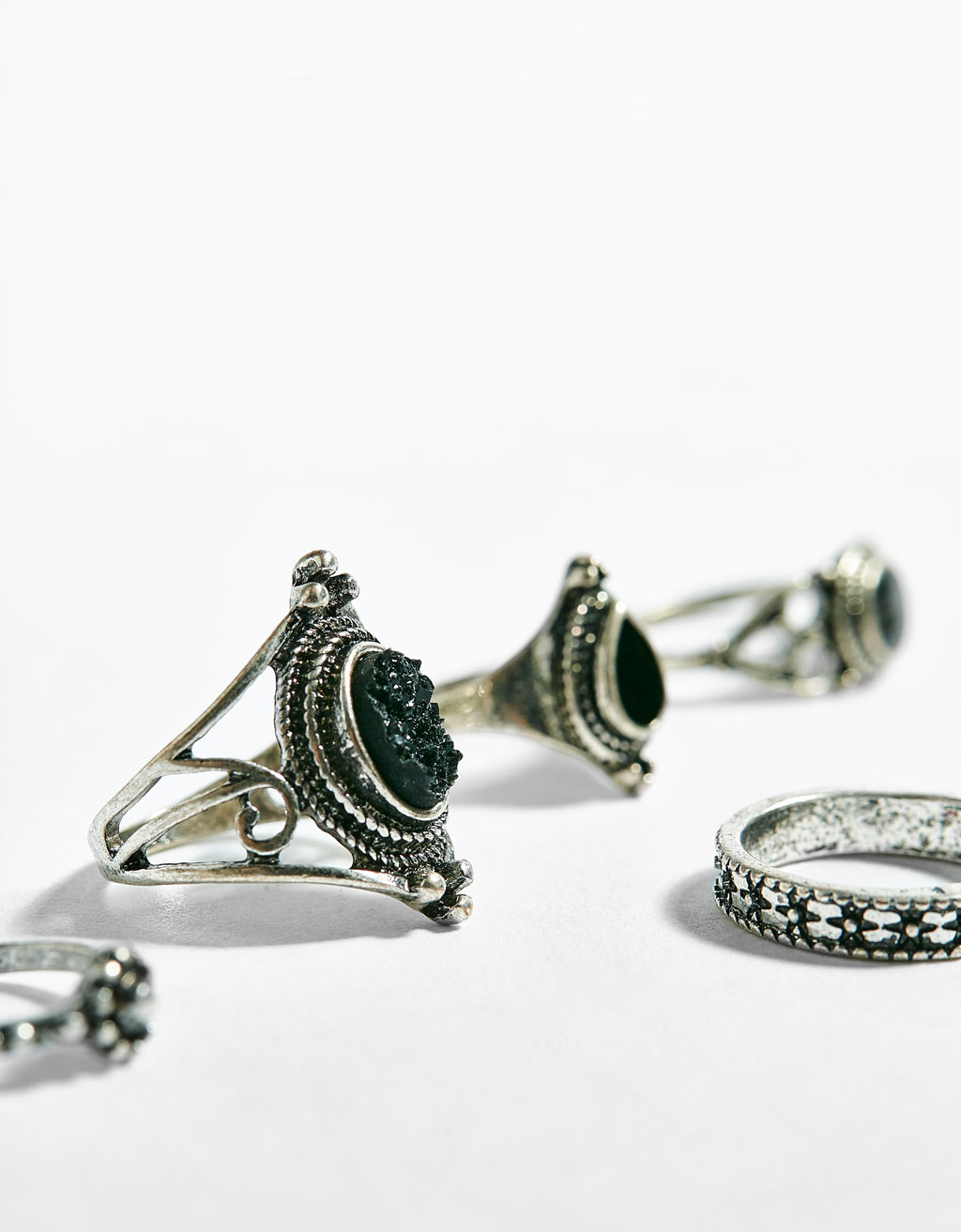 Set of boho rings