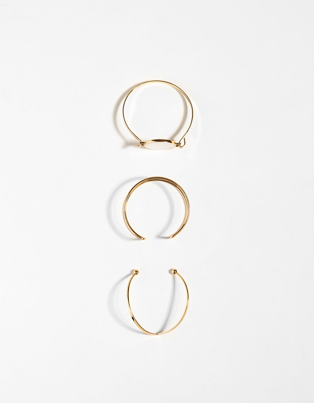 Set of 3 stone bracelets