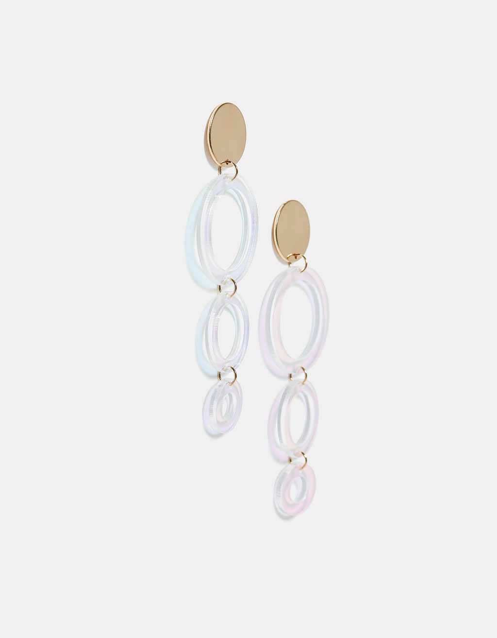 Iridescent dangling earrings