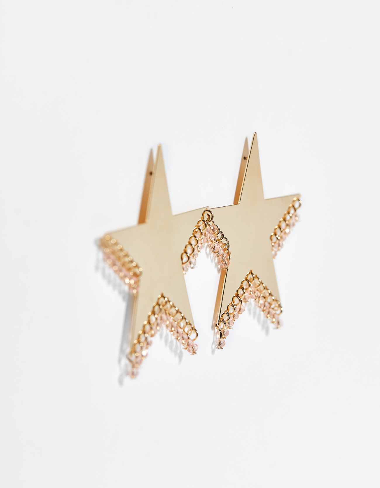 earrings d pendenti en star franchi shaped stella elisabetta orecchini a pendant
