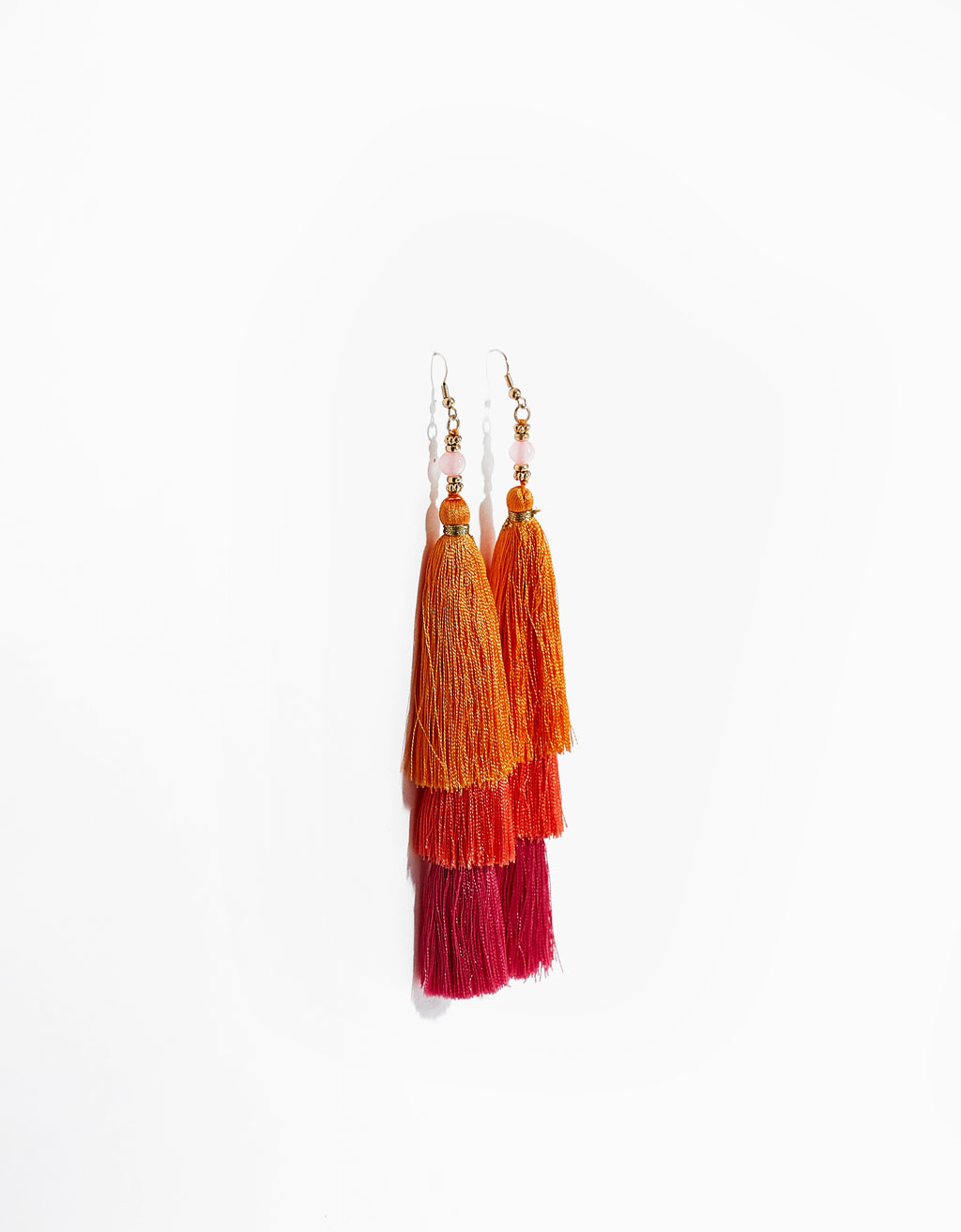 Multicolor pompom earrings