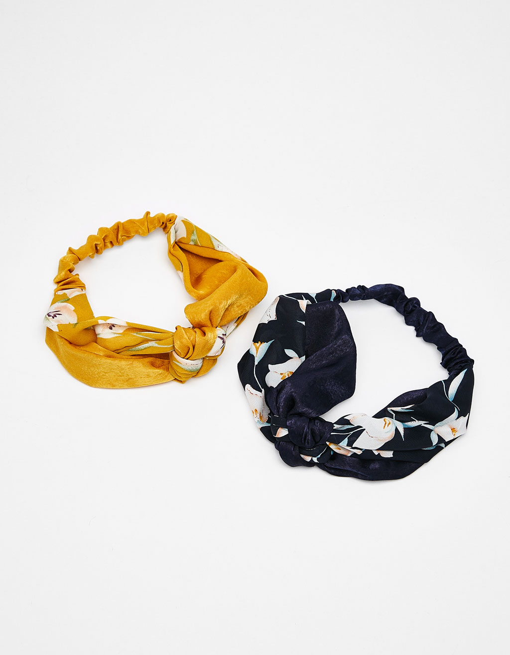 Set of 2 floral turban-style headbands