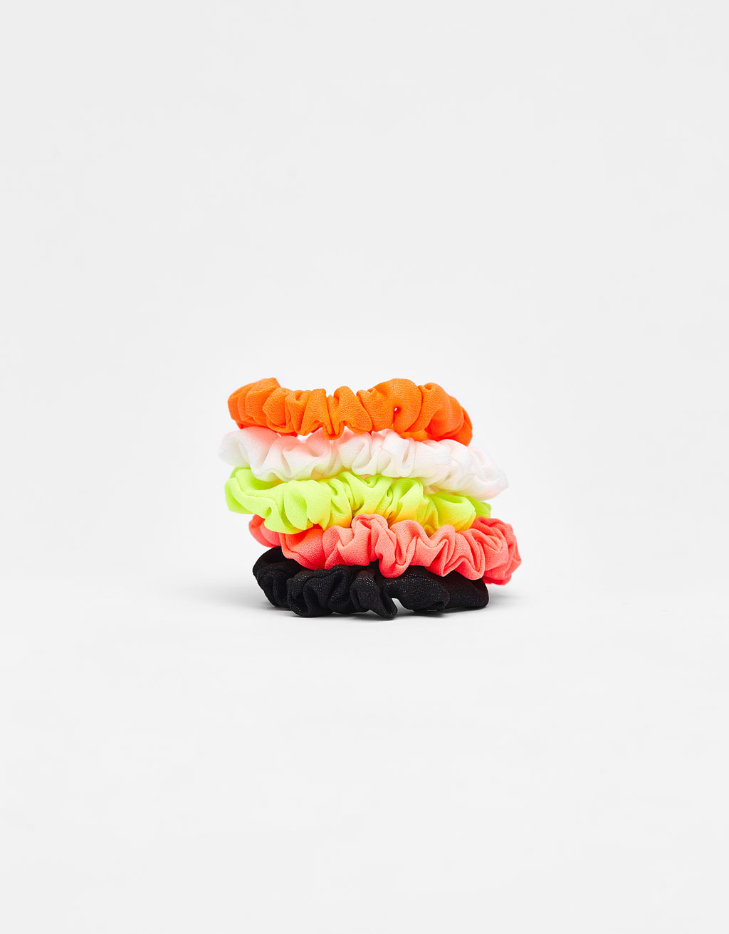 Set of neon scrunchies