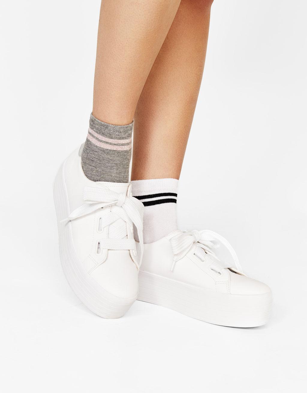 Chaussettes sport avec fil métallisé